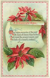 A CHRISTMAS WISH  MAY HAPPY MEMORIES OF THE PAST WITH HOPES OF FUTURE BLISS BE BLENT//HALO OF A HEART'S CONTENT