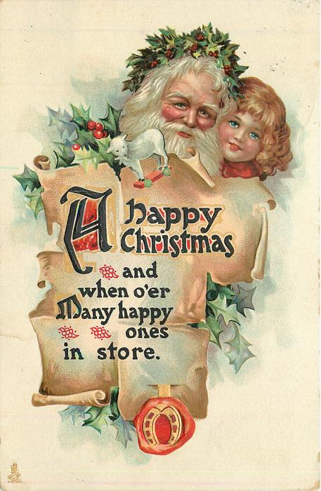 A HAPPY CHRISTMAS  AND WHEN O'ER MANY HAPPY ONES IN STORE
