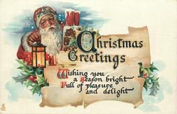 CHRISTMAS GREETINGS  WISHING YOU A SEASON BRIGHT FULL OF PLEASURE AND DELIGHT
