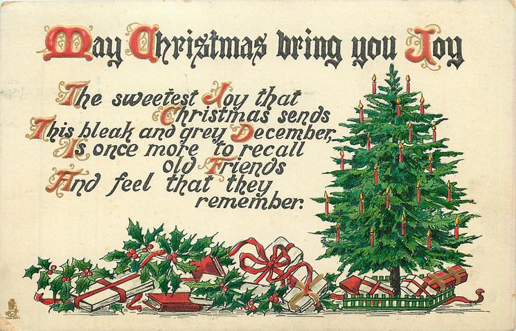 MAY CHRISTMAS BRING YOU JOY