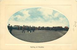 GOLFING AT HOYLAKE