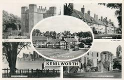 5 insets THE GREAT GATE HOUSE/HIGH STREET/THE QUEEN AND CASTLE HOTEL/KENILWORTH CASTLE/KENILWORTH CASTLE