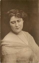 MISS LILY HANBURY neither hand visible, pearl necklace, facing slightly right