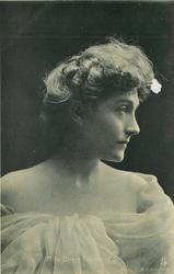 MISS GRACE LANE  head & shoulders study, facing front looking right