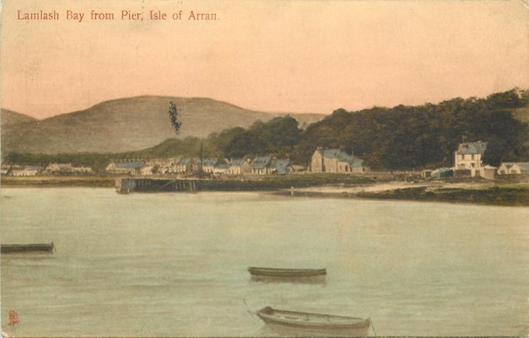 LAMLASH BAY FROM PIER