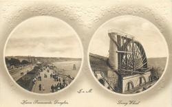 2 insets HARRIS PROMENADE and LAXEY WHEEL