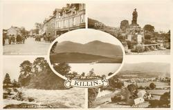 5 insets, MAIN STREET and WAR MEMORIAL and LOCH TAY AND BEN LAWERS and ON THE DOCHART and KILLIN FROM THE NORTH