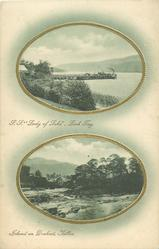 """S.S. """"LADY OF LAKE"""", LOCH TAY and ISLAND ON DOCHART"""