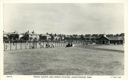 TENNIS COURTS AND SPORTS PAVILION, KNIGHTSWOOD PARK
