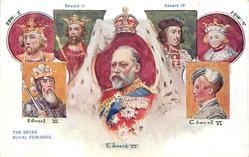THE SEVEN ROYAL EDWARDS or THE SEVEN EDWARDS  insets of 7 kings