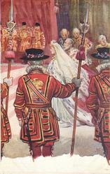 THE CORONATION OF KING EDWARD VII  their majesties arrival at westminster abbey