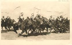 BENGAL LANCERS  melee of riders gallop right