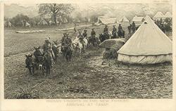 ARRIVAL AT CAMP