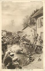 FRENCH SPAHIS RUSHING A GERMAN GUN