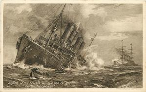SINKING OF THE KAISER WILLHELM DER GROSSE BY THE HIGHFLYER