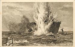 SINKING OF THE GERMAN TORPEDO BOAT DESTROYER 126