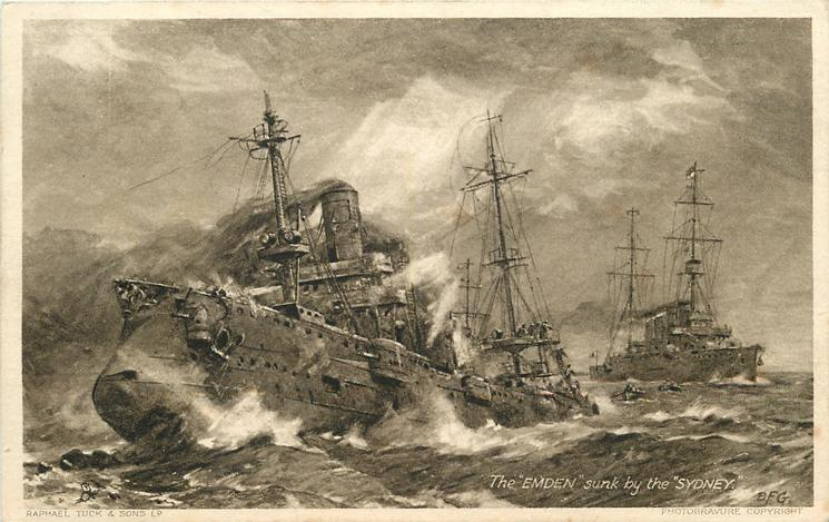 THE EMDEN SUNK BY THE SYDNEY
