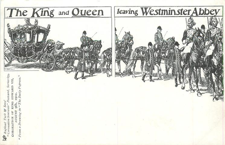 THE KING AND QUEEN LEAVING WESTMINSTER ABBEY