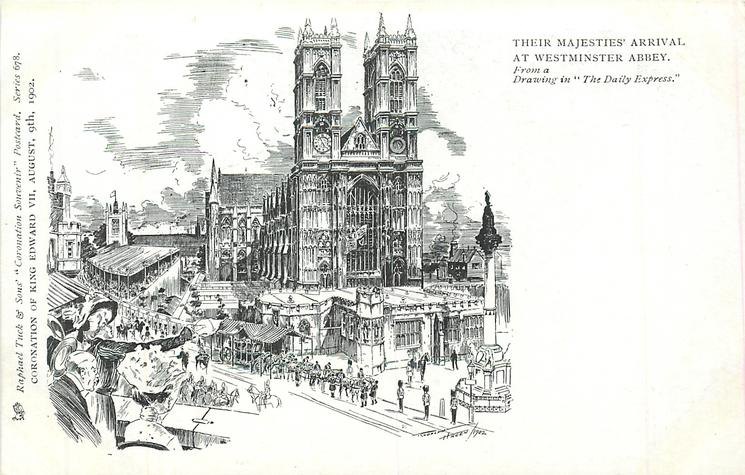 THEIR MAJESTIES ARRIVAL AT WESTMINSTER ABBEY