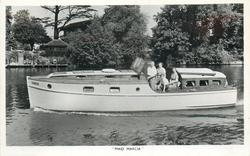 """MAID MARCIA"" or MOTOR CRUISER, ""MAID MARCIA"""