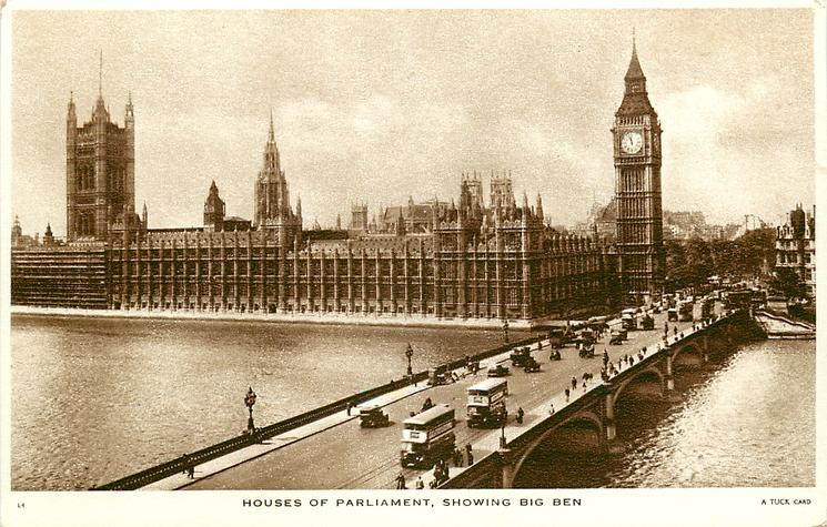 HOUSES OF PARLIAMENT, SHOWING BIG BEN