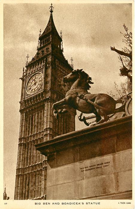 BIG BEN AND BOADICEA'S STATUE