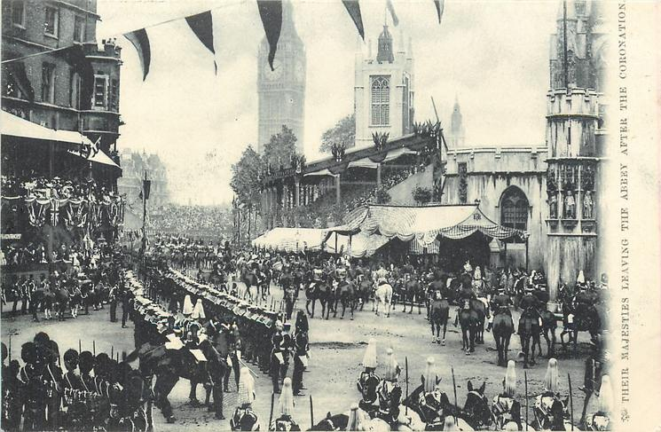 THEIR MAJESTIES LEAVING THE ABBEY AFTER THE CORONATION