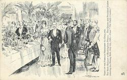 THE STATE BANQUET AT BUCKINGHAM PALACE.  THE QUEEN AND PRESIDENT LOUBET ENTERING THE DINING HALL, JULY 6TH. 1903