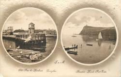 2 insets OLD PIER & HARBOUR  DOUGLAS and BRADDA HEAD, PORT ERIN