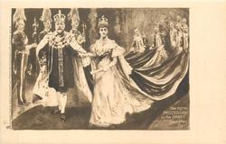 THE ROYAL PROCESSION IN THE ABBEY AFTER THE CORONATION  KING EDWARD VII