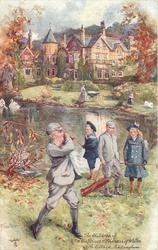 THE CHILDREN OF T.R.H. THE PRINCE & PRINCESS OF WALES. YORK COTTAGE SANDRINGHAM  playing golf