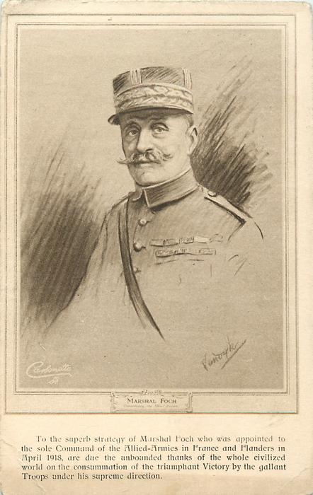 MARSHAL FOCH COMMANDING THE ALLIED FORCES
