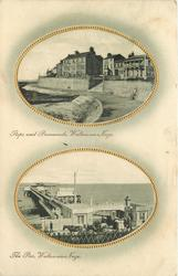 2 insets STEPS AND PROMENADE, WALTON-ON-NAZE and THE PIER, WALTON-ON-NAZE