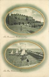 2 insets THE PROMENADE, WALTON-ON-NAZE and THE PIER, WALTON-ON-NAZE