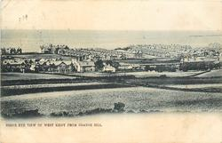 BIRD'S EYE VIEW OF WEST KIRBY FROM GRANGE HILL