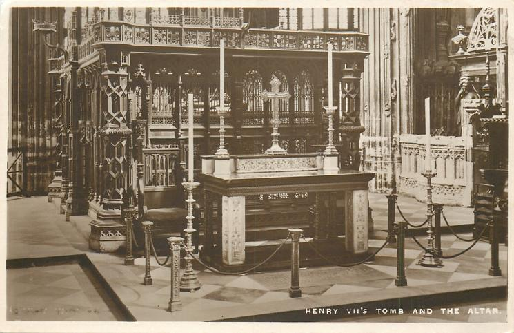 HENRY VII'S TOMB AND THE ALTAR
