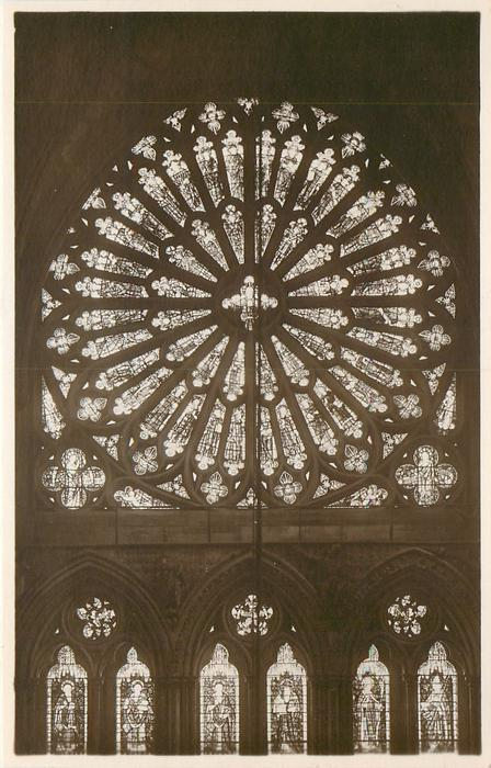 THE ROSE WINDOW IN THE SOUTH TRANSEPT