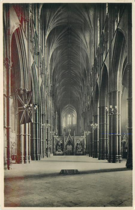 THE NAVE FROM THE WEST AND UNKOWN WARRIOR'S GRAVE