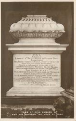 TOMB OF KING EDWARD V. AND HIS BROTHER THE DUKE OF YORK