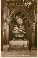 MEMORIAL TO SIR ISAAC NEWTON