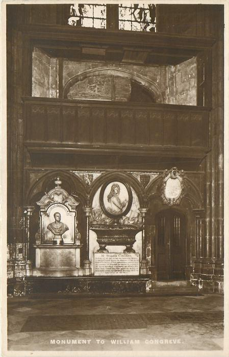 MONUMENT TO WILLIAM CONGREVE