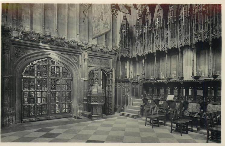 THE NORTH WEST CORNER OF HENRY VII'S CHAPEL