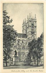 WESTMINSTER ABBEY AND THE LINCOLN STATUE