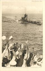 SUBMARINE E11 RETURNING FROM THE DARDANELLES