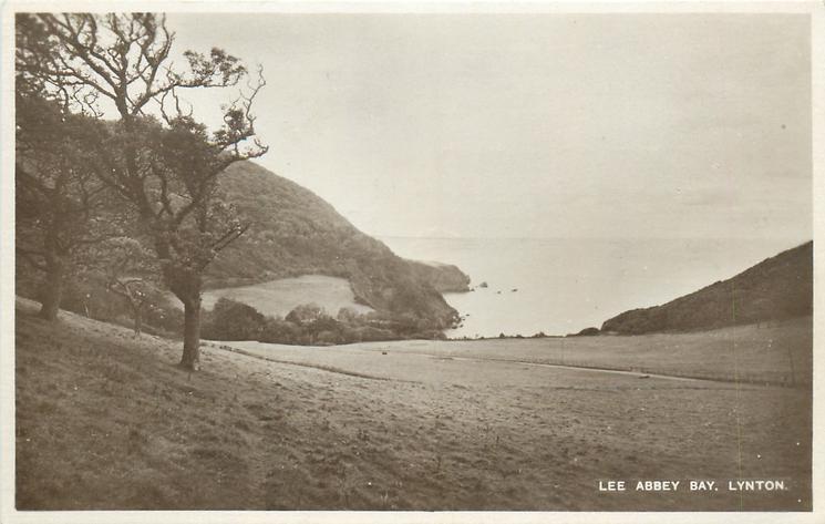 LEE ABBEY BAY  sea in front