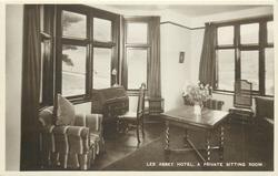 LEE ABBEY HOTEL, A PRIVATE SITTING ROOM