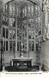 BATTLE OF BRITAIN MEMORIAL CHAPEL, WESTMINSTER ABBEY