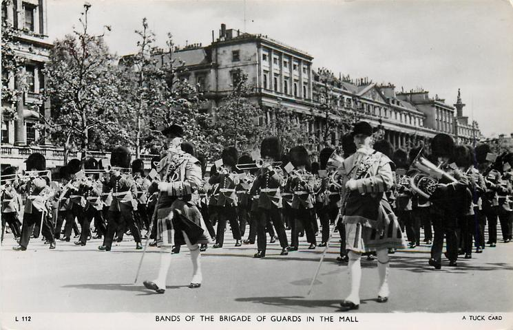 BANDS OF THE BRIGADE OF GUARDS IN THE MALL