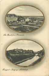 2 insets THE BEACH FROM PROMENADE and TENNYSON'S LODGINGS