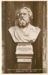 BUST OF HENRY WADSWORTH LONGFELLOW AMERICAN POET--1807-1882